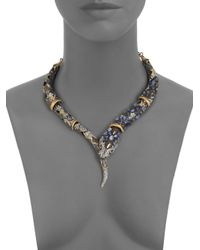 Alexis Bittar - Multicolor Semiprecious Multistone Snake Necklace - Lyst