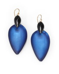 Alexis Bittar | Blue Minimalist Lucite Earrings | Lyst