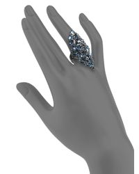 Alexis Bittar | Blue Elongated Cluster Ring | Lyst