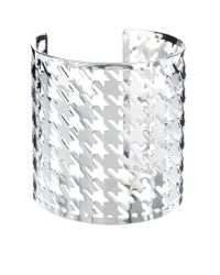 ASOS   Metallic Asos Houndstooth Cuff Bracelet   Lyst