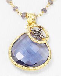Coralia Leets - Blue Iolite Pendant Necklace 17 - Lyst