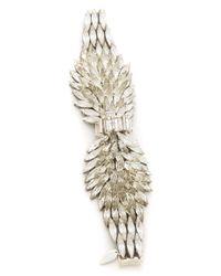 Jenny Packham - Metallic Navette Bracelet I - Lyst