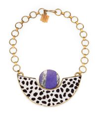 Kelly Wearstler | Metallic Memphis Lapis Agate Calf Hair Necklace | Lyst