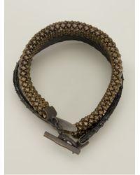 Laura B | Brown Double Strap Bracelet | Lyst
