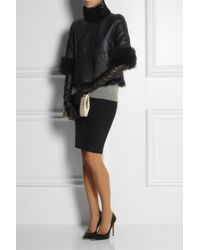 Tory Burch - Blue Shearling Cape-style Jacket - Lyst