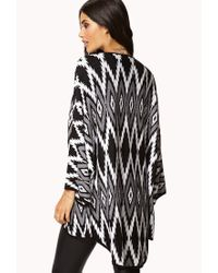 Forever 21 - Black Geo Goddess Cardigan You've Been Added To The Waitlist - Lyst