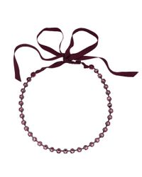 Lanvin | Red Crystal Ribbon Necklace | Lyst
