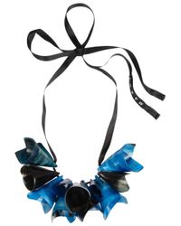 Marni - Blue Horn Necklace - Lyst