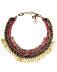 Sveva Collection - Red and Black Crystal Sahara Necklace - Lyst