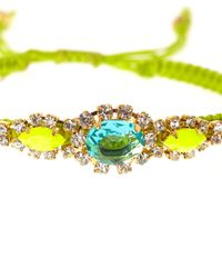 Tai - Green Crystal Friendship Bracelet - Lyst
