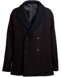 1205 | Blue Stockum Two Fine Merino Wool Peacoat | Lyst