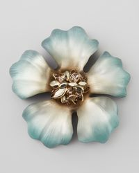 Alexis Bittar | Blue Neo Boho Ombre Anemone Marquise Cluster Flower Pin | Lyst