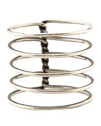 Ann Demeulemeester | Metallic Spiral Ring | Lyst
