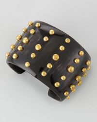Ashley Pittman - Black Kiwiko Studded Cuff Bracelet - Lyst