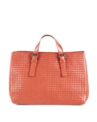 Bottega Veneta | Pink East/west Leather Tote for Men | Lyst