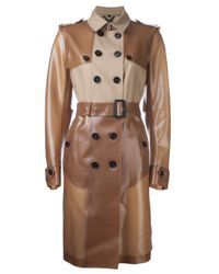 Burberry Prorsum | Brown Honey Rubber Trench Coat | Lyst