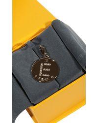 Fendi | Metallic Rhine Stone Charming Letter E | Lyst