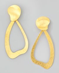 Herve Van Der Straeten | Metallic Vibrations Wavy Drop Earrings | Lyst