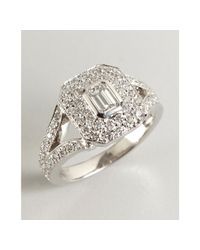 Kwiat | Metallic White Gold and Diamond Rox Oval Ring | Lyst