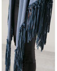 Liska - Blue Fringed Cape - Lyst