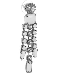 Tom Binns - White Carte Blanche Swarovski Crystal Drop Earrings - Lyst