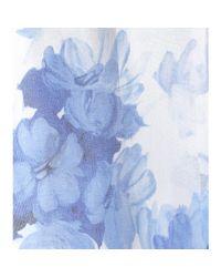 Valentino - Blue Ceramic Silk Organza Printed Gown - Lyst