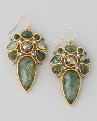 Alexis Bittar - Green Elements Moss Agate Doublet Drop Earrings - Lyst