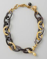 Ashley Pittman | Black Nyoka Snake Necklace Dark Horn | Lyst
