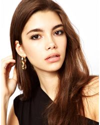 Dogeared - Metallic Asos Twisted Double Hoop Earring - Lyst