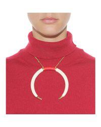 Aurelie Bidermann - Metallic Caftan Moon Goldplated Faux Horn Necklace - Lyst