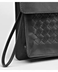 Bottega Veneta | Black Nero Intrecciato Vachette Document Case for Men | Lyst