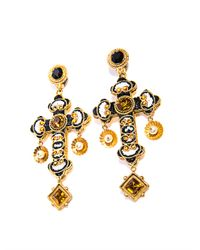 Dolce & Gabbana | Metallic Filigree Cross Earrings | Lyst