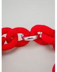 EK Thongprasert - Red Rubber Link Bracelet - Lyst