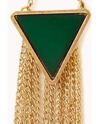 Forever 21 - Green Boho Triangle Drop Earrings - Lyst
