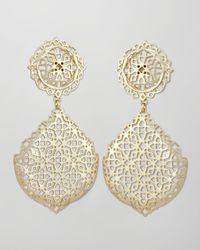 Kendra Scott - Metallic Genevieve Goldplate Filigree Earrings - Lyst