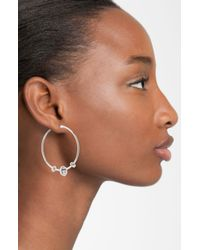 Marc By Marc Jacobs | Metallic Bolts Hoop Earrings | Lyst