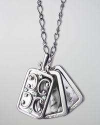 Monica Rich Kosann | Metallic Rectangular Gate Locket Necklace | Lyst