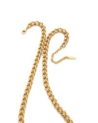 Rachel Zoe | Metallic Love Me Knot Long Single Knot Necklace | Lyst