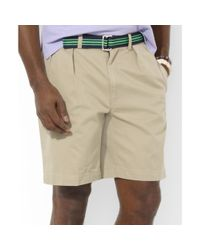 Ralph Lauren | Brown Vintage Chino Pleated Tyler Shorts for Men | Lyst