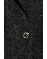 See By Chloé - Black Woolblend Tweed Coat - Lyst