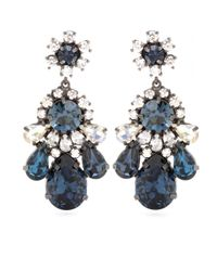 Shourouk | Multicolor Montana Crystal Embellished Earrings | Lyst