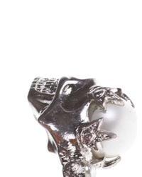 Alexander McQueen - Metallic Alexander Mcqueen Skull Torque Bracelet - Lyst