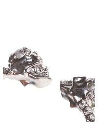 Alexander McQueen | Metallic Alexander Mcqueen Skull Torque Bracelet | Lyst