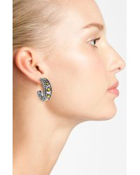 John Hardy   Metallic Naga Small Hoop Earring   Lyst