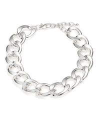 Kenneth Jay Lane | Metallic Curb Chain Necklace | Lyst