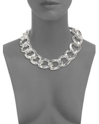 Kenneth Jay Lane - Metallic Curb Chain Necklace - Lyst