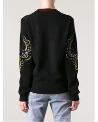 KENZO | Black Kenzo Embroidered Jumper | Lyst