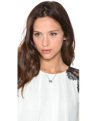 Michael Kors - Metallic 3 Ring Double Chain Necklace - Lyst