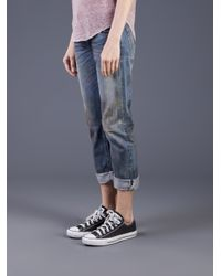 Bliss and Mischief - Blue Nsf Beck Cropped Rolled Jean - Lyst
