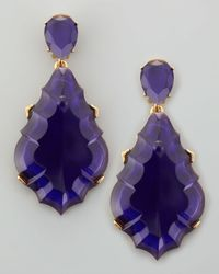 Oscar de la Renta | Resin Chandelier Clipon Earrings Dark Purple | Lyst